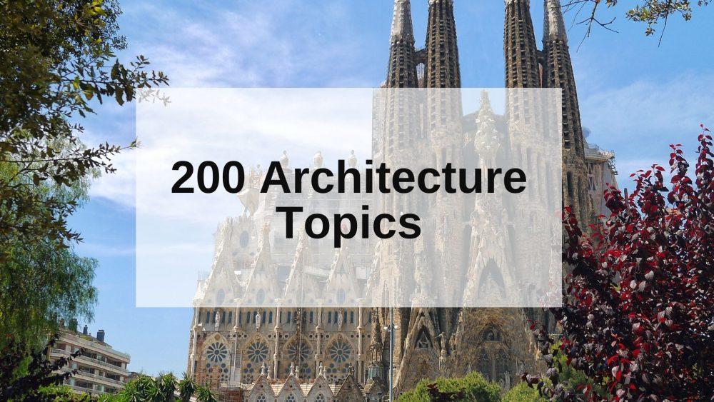 architecture topics