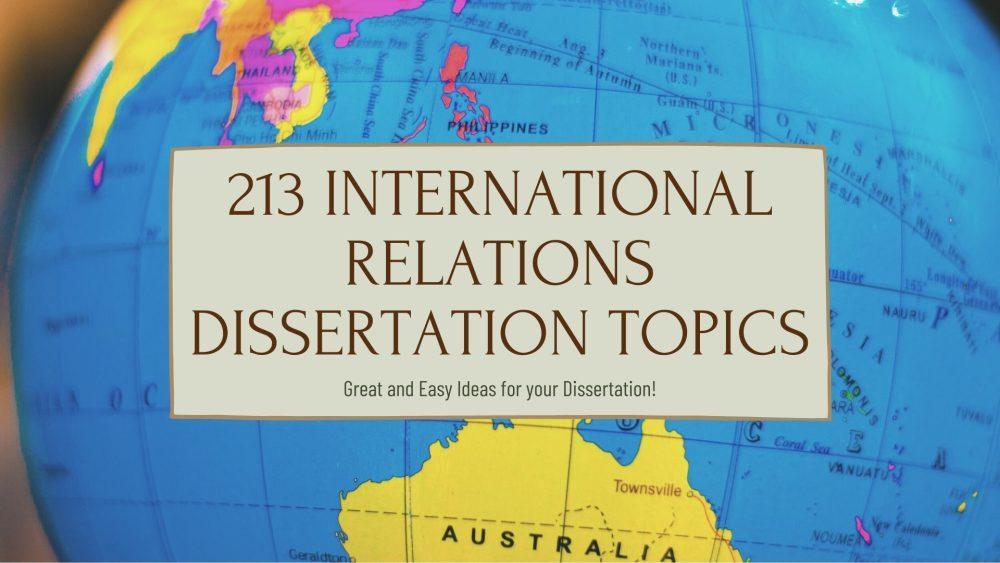 international relations dissertation topics